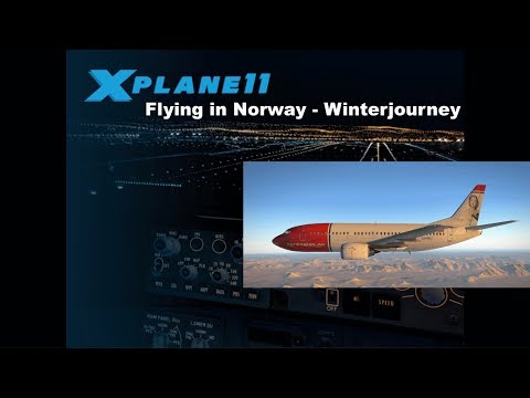 [Livestream] XP11 - Flying in Norway - Winterjourney ENTC-ENSB [GER/ENG]