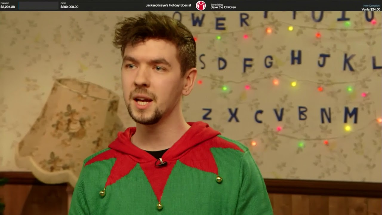 Jacksepticeye Christmas Stream 2020 Jacksepticeye's Holiday Special   Day 1   YouTube