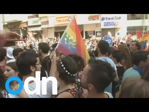 Turkish police fire rubber pellets to disperse crowds at gay pride parade in Istanbul