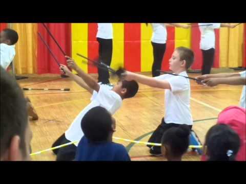Tahliq's 5th grade class Circus performance..