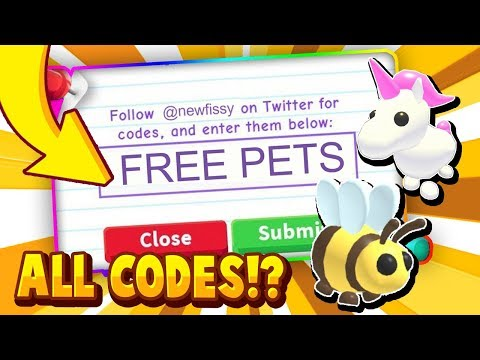 ALL ADOPT ME CODES! 2020 IN ROBLOX! - Trying Roblox Adopt Me Promo Codes