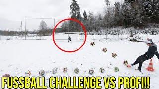 Extreme fussball freistoss challenge vs profi gareth walker + epische bestrafung!!