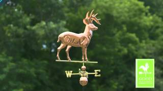 Good Directions 638p Standing Deer Weathervane - Polished Copper