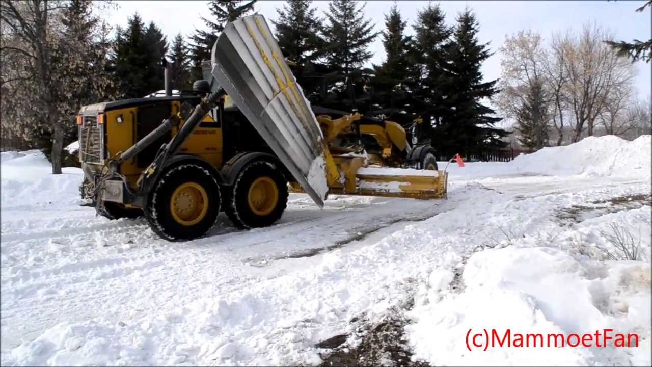 Caterpillar 160m Snow Removal Youtube