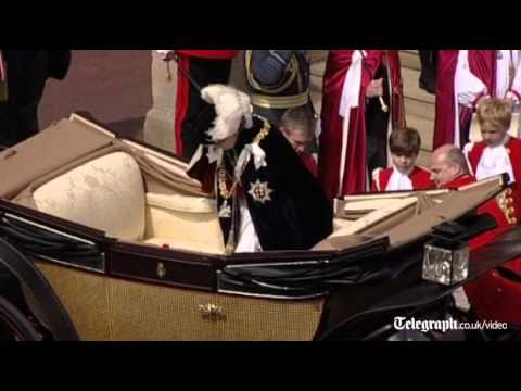 Duke and Duchess of Cambridge, Kate Middleton, on parade at Garter Day proces