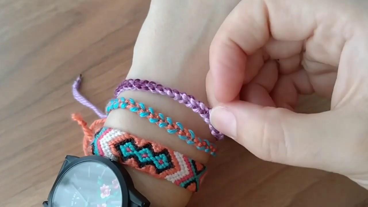 Herkesin Yapabilecegi Ipten Kolay Bileklik 2 Friendship Bracelets Youtube Bileklik Boncuk Suslu Takilar Taki