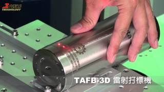 TAFB-3D 3D雷射金屬曲面打標雕刻機.3D Laser metal marking for Irregular surfaces