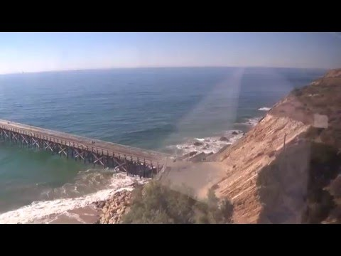 Pacific Surfliner Ride On The Coast After Santa Barbara