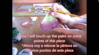 Pintura no emborrachado. handcraft Painting the rubberized. Artesanías, pintan cauchutados