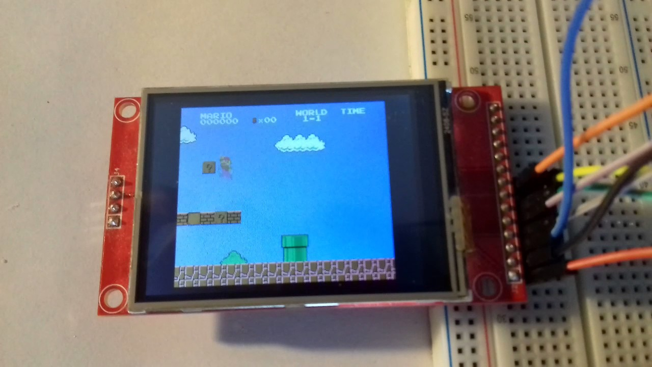 The ported Nofrendo NES emulator running on SparkFun ESP32 Thing