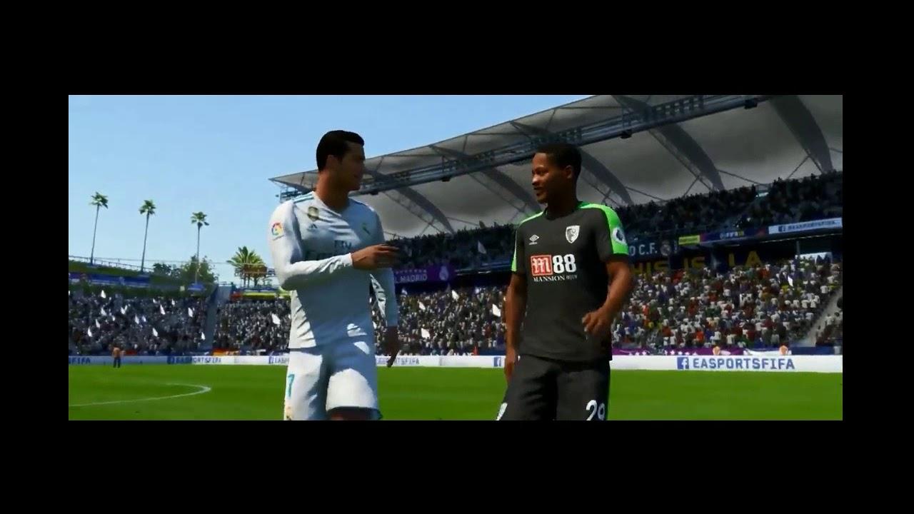 6bf5c82e383 Fifa 18 - Alex Hunter Exchanges T Shirt with Cristiano Ronaldo - YouTube