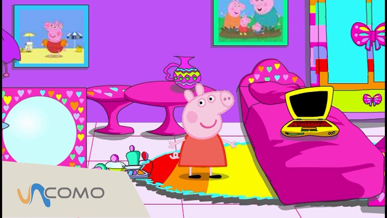 La habitacin de Peppa Pig est desordenada Juega con Peppa