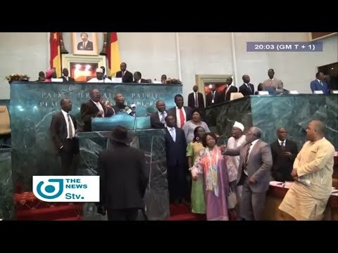STV NEWS 08:00 PM - (The ANGLOPHONE CRISIS SCARES AWAY the GOV'T and CPDM MPs from the GLASS HOUSE)