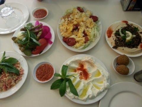 Lebanese Breakfast Labnah,Hummus,Sujuk,Shanklish,Za3taar