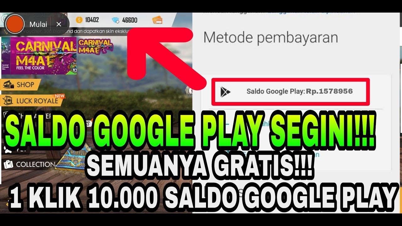 Tanpa Ribet Dapet Saldo Google Play Gratis Hanya Dengan 1 Klik Garena Free Fire Youtube