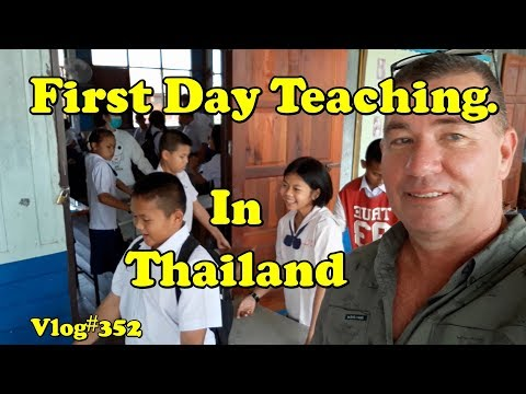 My first day at teaching English in Thailand