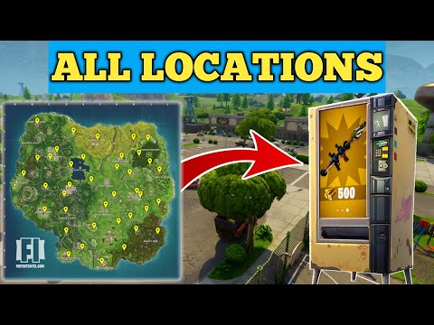 ALL VENDING MACHINE LOCATIONS In FORTNITE BATTLE ROYALE