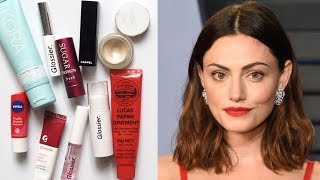 Phoebe Tonkin Makeup Bag | Fresh Face and Red Lips