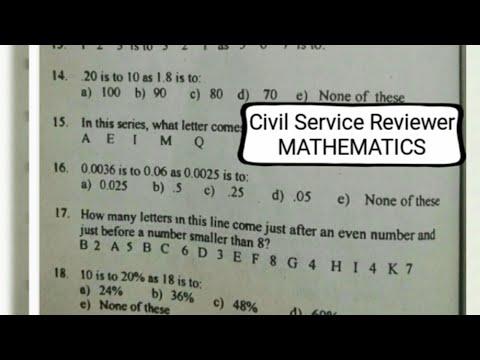 Civil Service Exam Reviewer: MATHEMATICS from random post