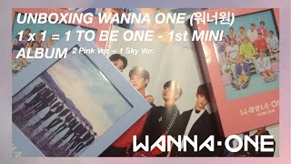 Video UNBOXING WANNA ONE (워너원) 1x1=1 TO BE ONE 1ST MINI ALBUM (2 PINK VER. + 1 SKY VER.) download MP3, 3GP, MP4, WEBM, AVI, FLV Desember 2017