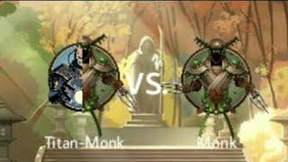 Shadow Fight 2 Titan-Monk vs Monk