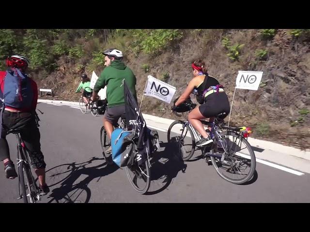 [19/09/2021] Columna ciclista de Vallvidrera a la manifestació contra l'aeroport