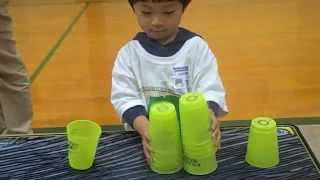 Amazing 4 year old Cup Stacker (Nathan Robles)