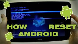 Android tablet not working | Remove password FACTORY HARD RESET!