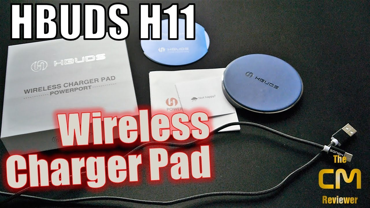 hbuds h11 test kabellloses schnellladepad wireless charger pad hands on deutsch youtube. Black Bedroom Furniture Sets. Home Design Ideas