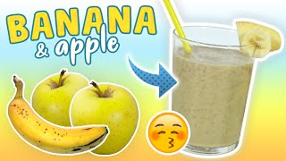 BANANA APPLE SMOOTHIE | Breakfast Smoothie | Healthy Smoothie Recipes #38 - GoheRove2