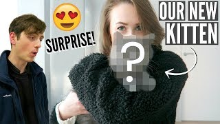 SURPRISING MY BOYFRIEND WITH A KITTEN! | Sophie Louise