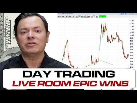 PXS OSTK Wins LIVE TradingTheOpen.com Day Trading Stocks Room 04Dec2017