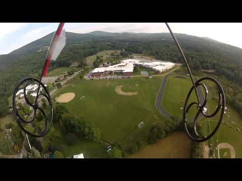 Flight over Old Home Day and Gilford High School