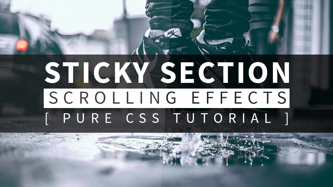 how to make sticky css
