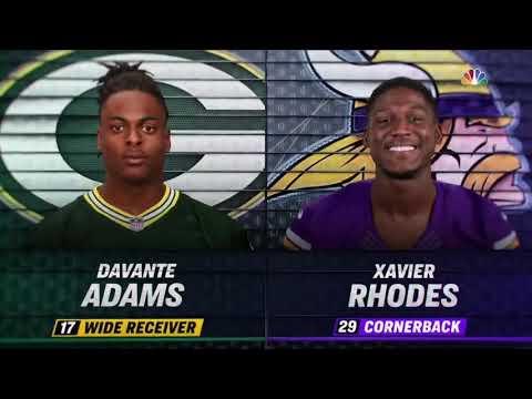 Davante Adams vs Xavier Rhodes (2018 wk 12)   WR vs CB Highlights
