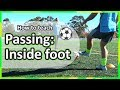 #4. How to teach: Passing › Inside foot | Soccer skills in PE (grade K-6)