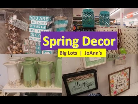 Spring Home Decor Shop With Me Big Lots Joann S