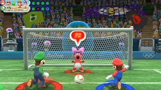 Mario and Sonic at The Rio 2016 Olympic Games Football( 2 Player) Mario vs Luigi