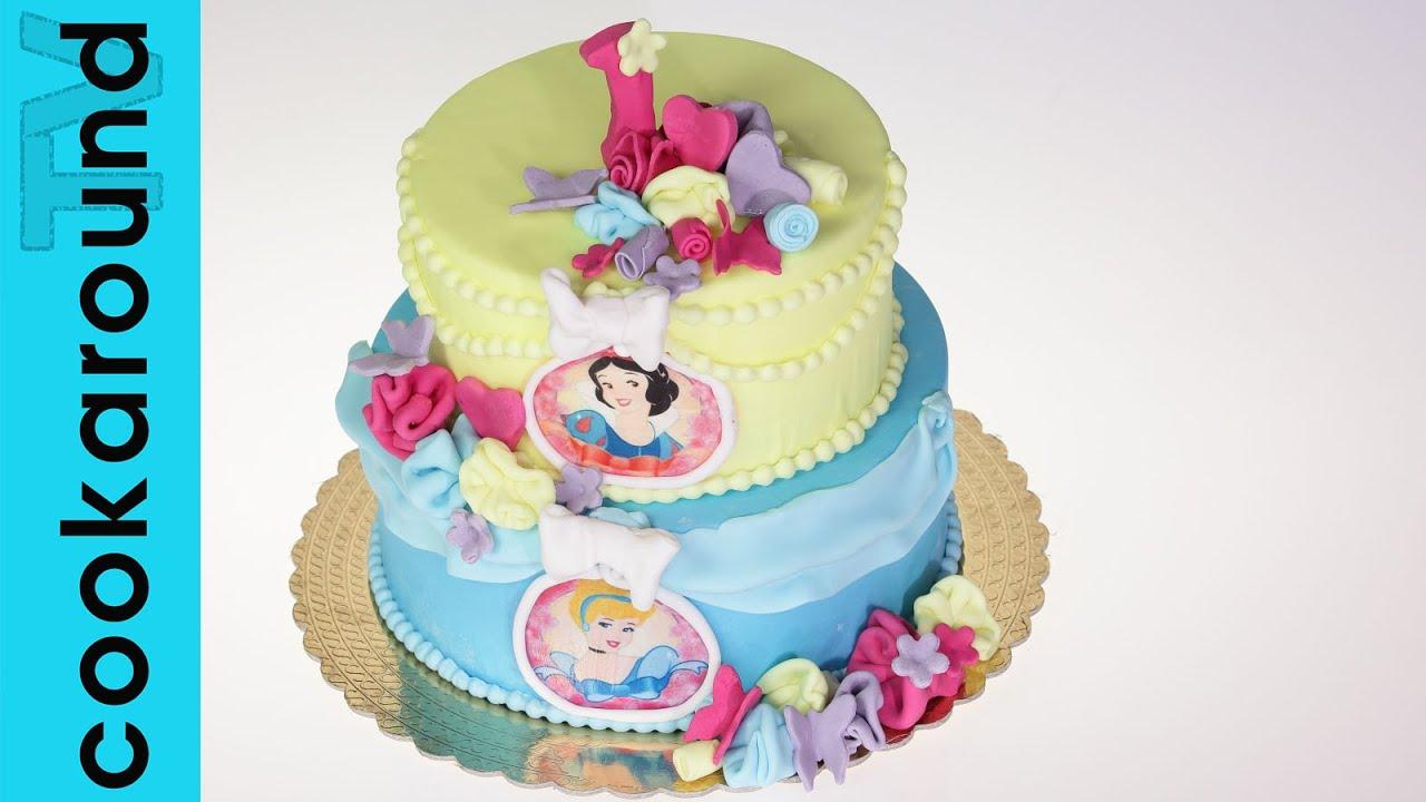 Torta principesse Disney / Tutorial Pasta di Zucchero