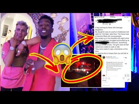 Girls DRUGGED at Jake Paul & Desiigner's Party! (FOOTAGE) *GOES VERY WRONG*