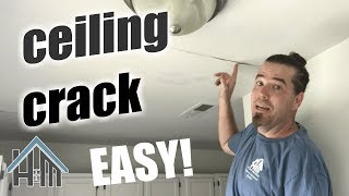 How to fix a ceiling crack, ceiling seam, wall seam. Easy! Home Mender!