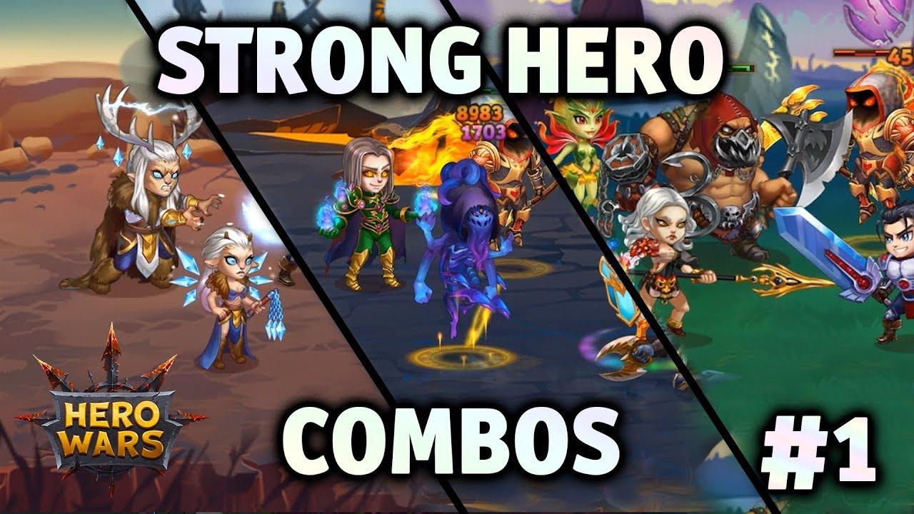 Strong Hero Combos 1 Hero Wars Youtube