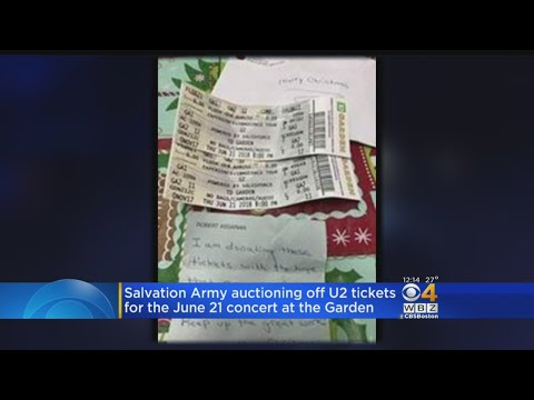 Salvation Army To Auction Off U2 Tickets