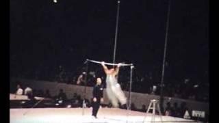 Tokyo 1964 Gymnastics Greg Weiss Reck bar (Amateur Footage)