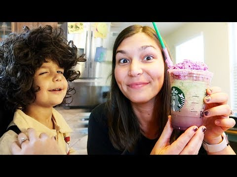 TRYING ZOMBIE FRAPPUCCINO AND STRANGER THINGS!