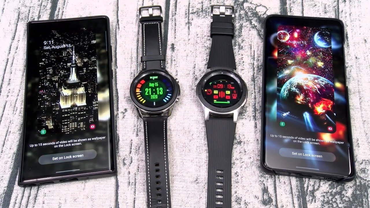 My Favorite Samsung Live Wallpapers And Galaxy Watch Faces Youtube