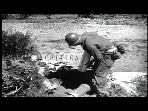 US Army soldiers during the first 50 days of the Korean War HD Stock Footage
