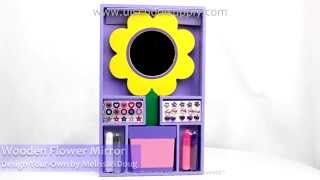 Decorate-your-own Wooden Flower Mirror By Melissa &doug -- #3348