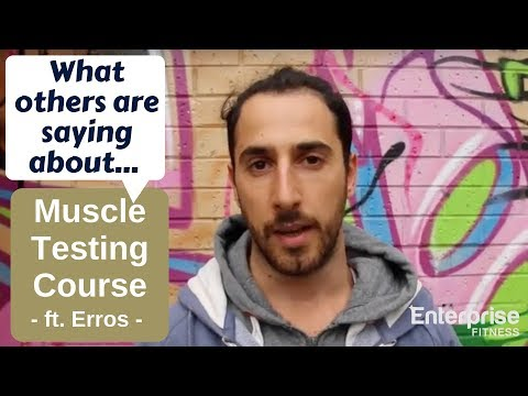 Erros Reviews the Applied Muscle Testing Course | Personal Trainer Courses