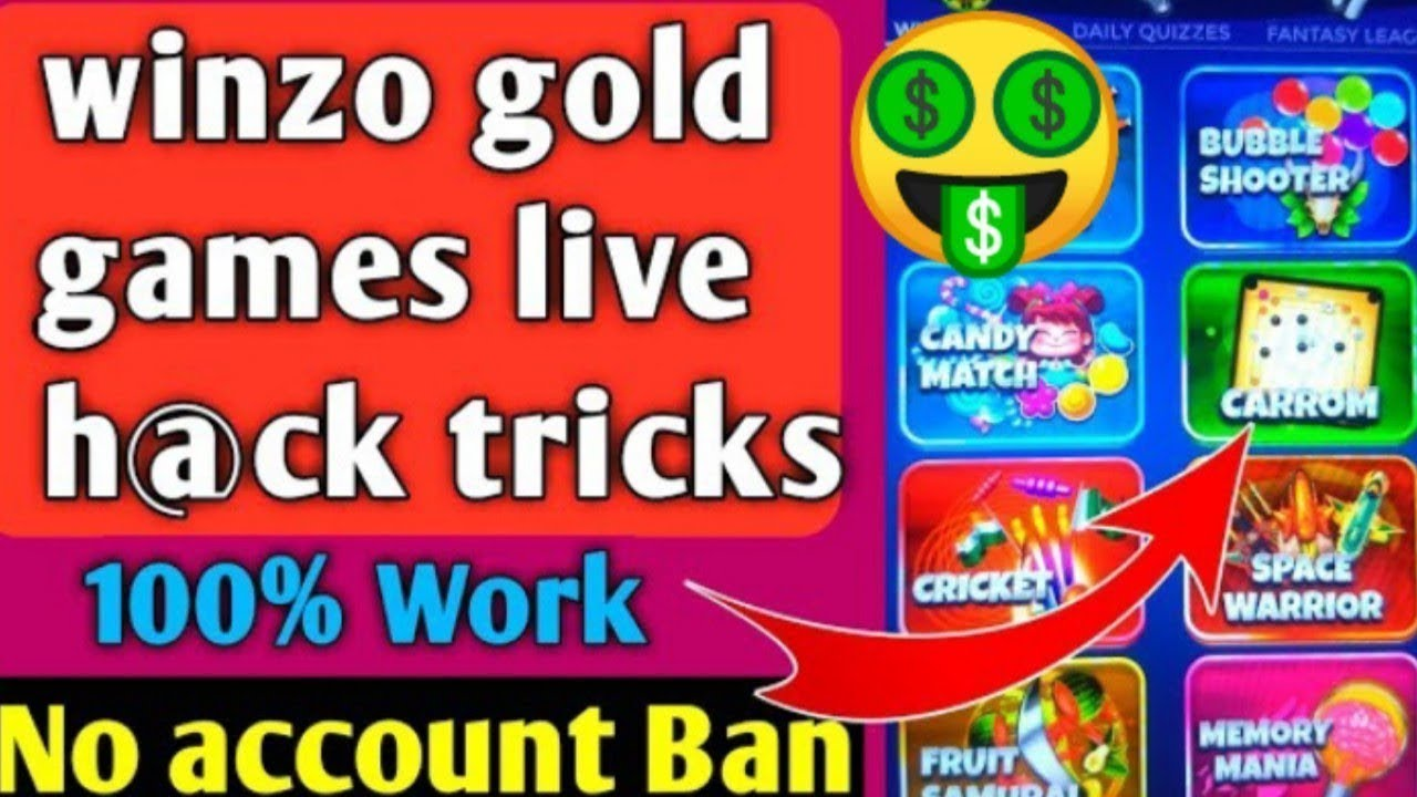 WINZO GOLD UNLIMITED TRICK ALL GAMES HACK LIVE PROOOF 100%